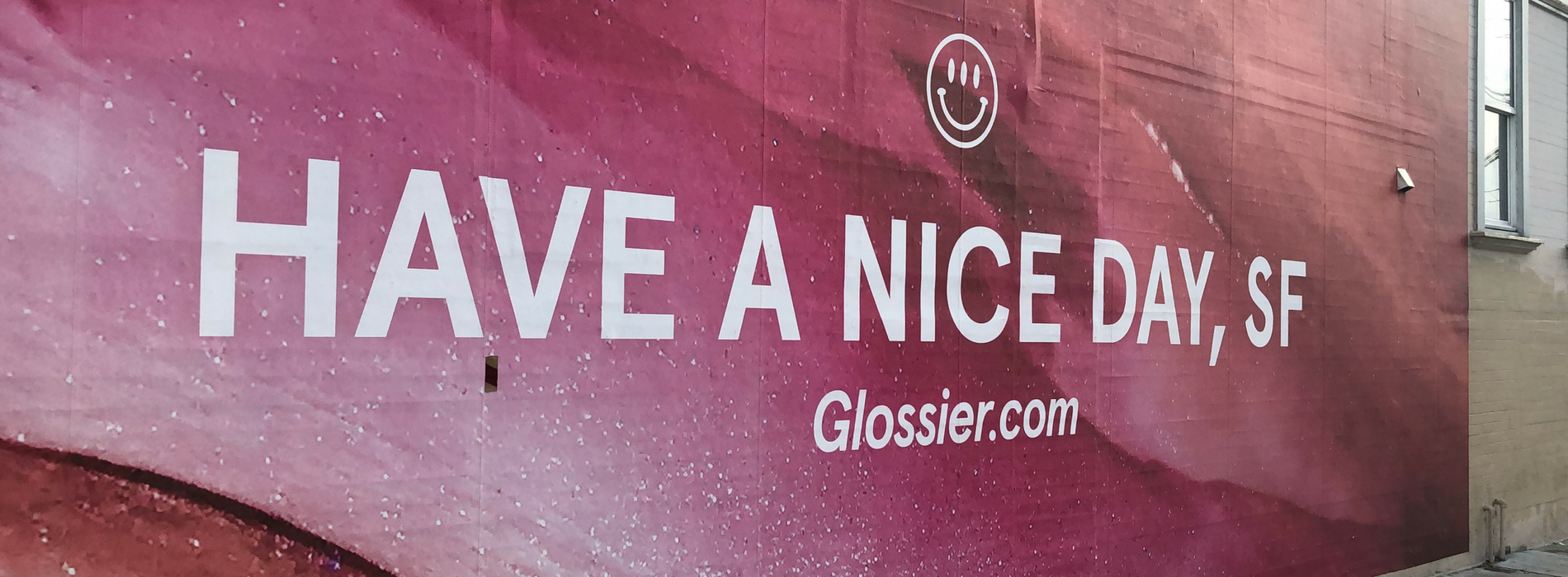 marketing strategy glossier sign