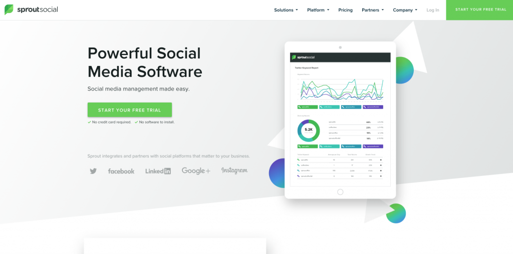 sprout social marketing tools