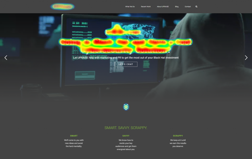 [IMAGE] UPRAISE home page with heat map.